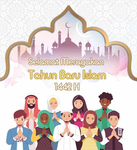 gambar ucapan tahun baru islam 1442 hijriah