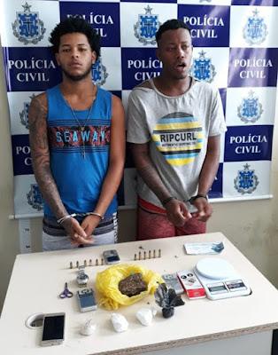 Polícia Civil conduz 5 até a Delegacia acusados de trafico de drogas em Santo Antônio de Jesus