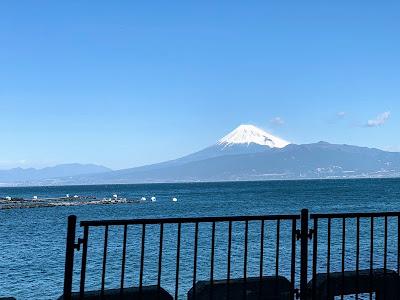 西浦付近から見た富士山