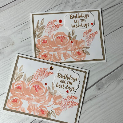 Birthday Card ideas using the Stampin' Up! Beautiful Friendship Stamp Set