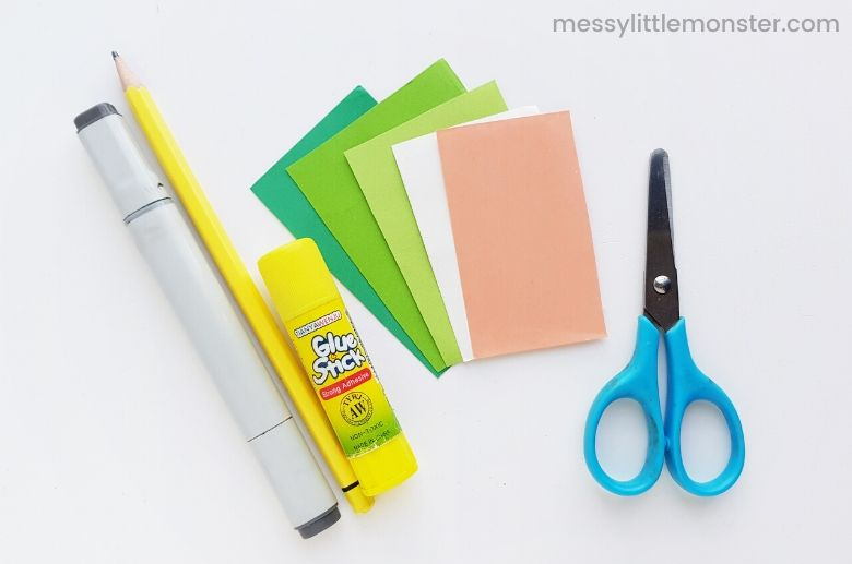 frog puppet craft supplies