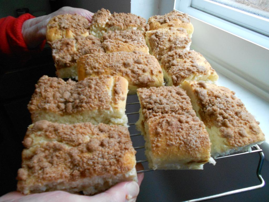 cut-pieces-of -special-raised-dough- coffee cake