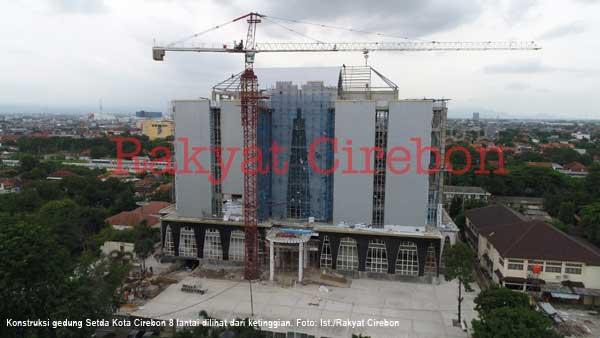 dpupr pantau pembangunan gedung setda kota cirebon
