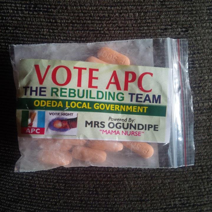 APC shares Vitamin-C tablets as election souvenirs