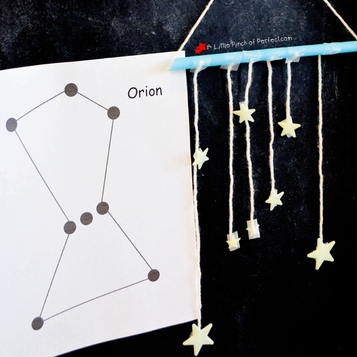 How To Make A Hanging Glow In The Dark Star Constellation