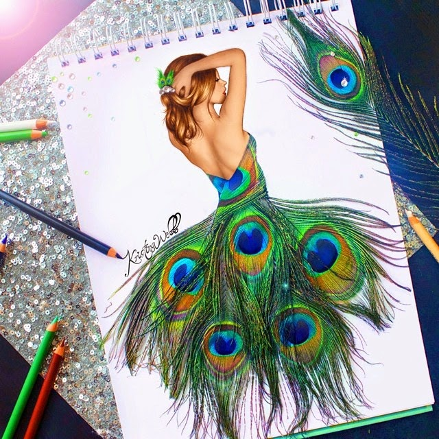 08-Feathers-Kristina-Webb-Colour-me-Creative-Drawings-www-designstack-co