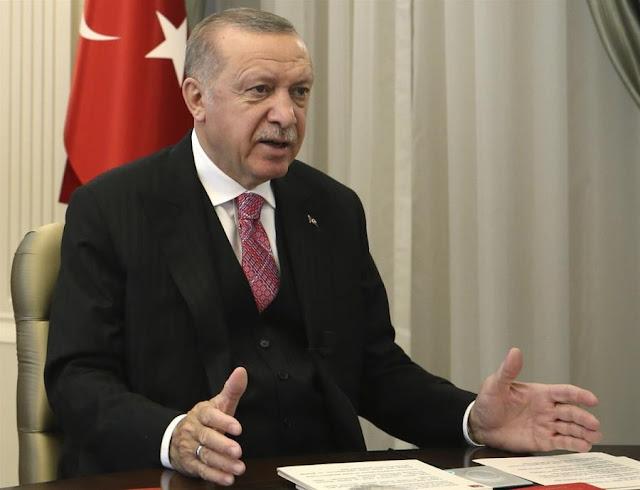 Νέες απειλές Ερντογάν προς τους Έλληνες