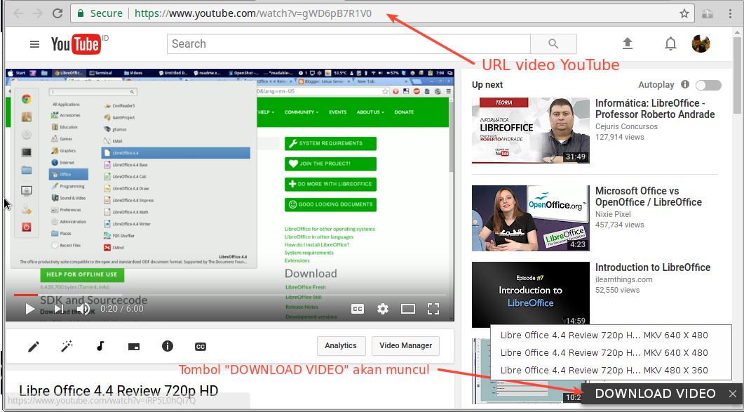 download video youtube di ubuntu