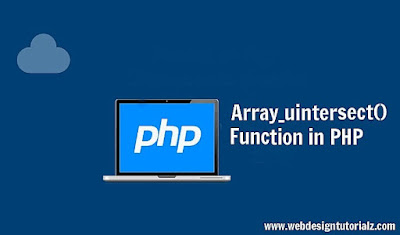 PHP array_uintersect() Function