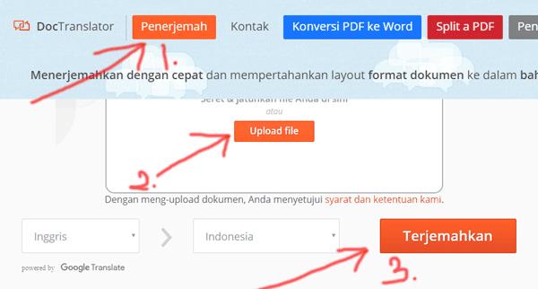tutorial menerjemahkan dokumen untuk bahasa apa saja secara langsung dan online