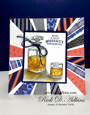 Because it's Whiskey Business being a dad I made this square starburst card for this week's creative challenge at the Spot challenge click here