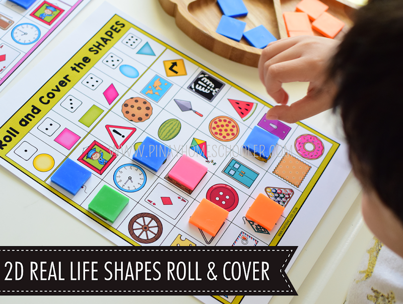 Kindergarten Math Shapes - 2D Real Life Shapes