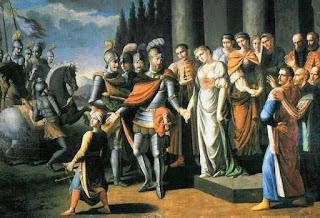 Олешкевич Иосиф Иванович «Прощание Ходкевича с женой перед Хотинским сражением»