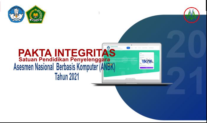 Format Pakta Integritas ANBK Tahun 2021 - Satuan Pendidikan Penyelenggara