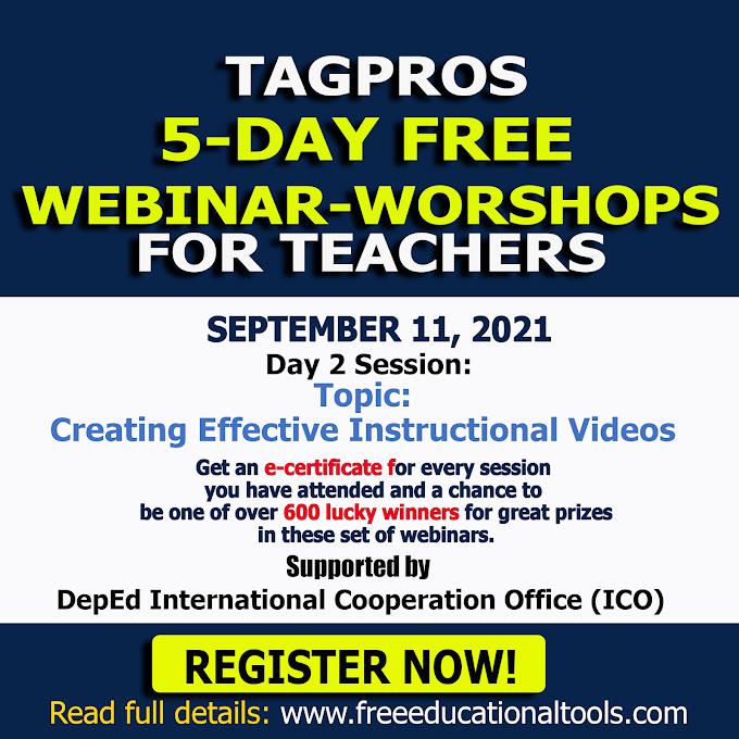 Tagpros September 11 | Day 2 Session Free Webinar | Register Now!