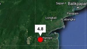 Siang Tadi Gempa 4,8 SR Landa Kaltim, Calon Ibukota Baru