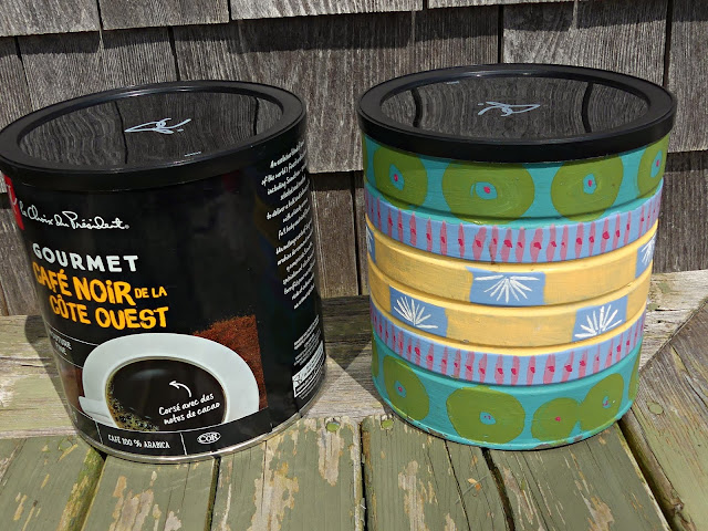 DIY Handpainted Coffee Tin Pots