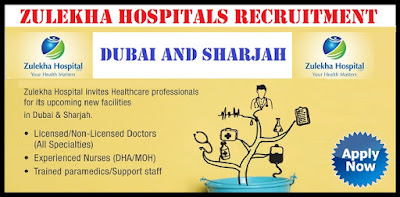 Zulekha Hospitals Hiring DHA/MOH Licensed Nurses December 2017