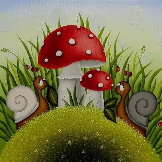 11-Snails-and-Mushrooms-Gabriela-Elgaafary-www-designstack-co