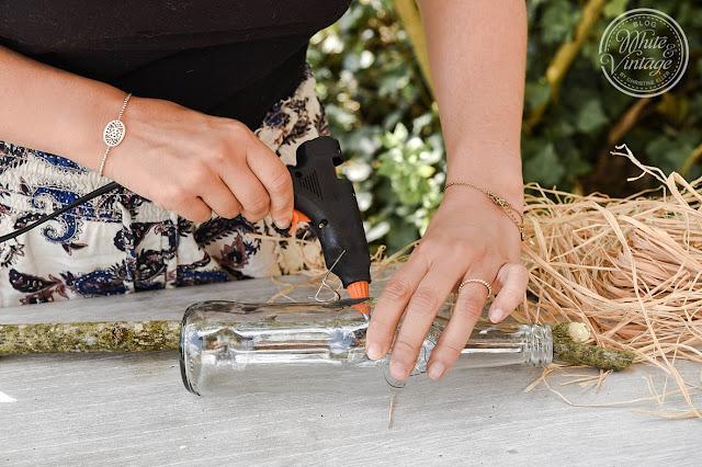 DIY-Gartendeko aus Flaschen