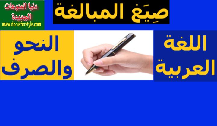 شرح درس صيغة المبالغة فى اللغة العربية | قواعد النحو والصرف