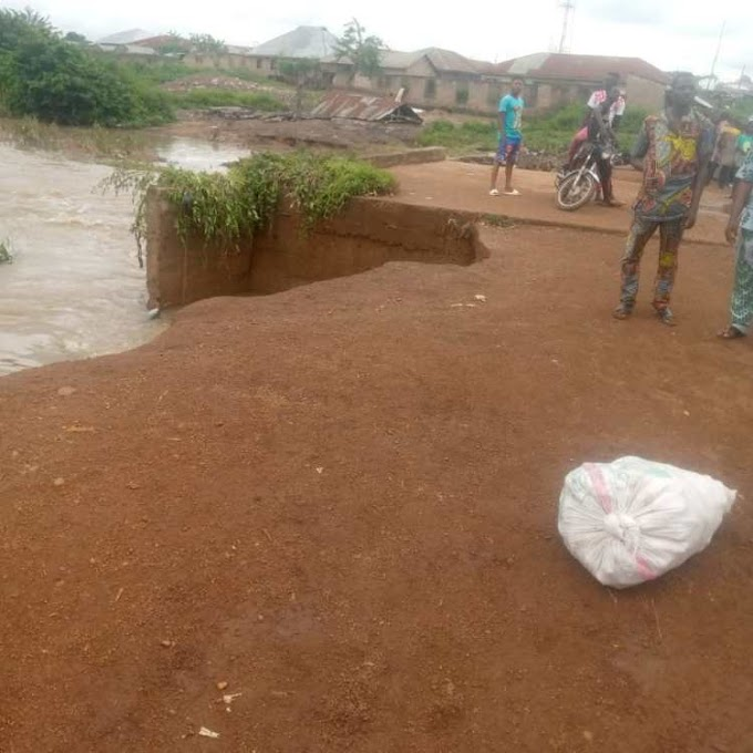 Villagers, farmers stranded as bridge collapses in Oyo community [PHOTO]