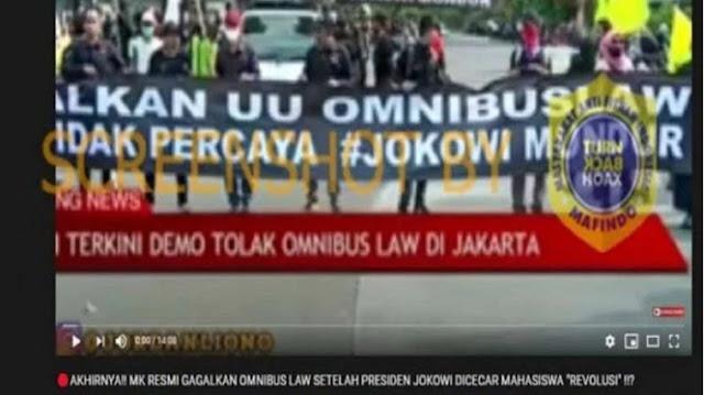 Akhirnya MK Resmi Gagalkan Omnibus Law, Cek Faktanya