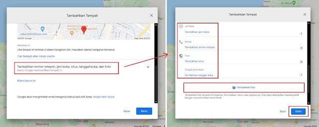 Menambahkan Tempat di Google Maps Lewat PC