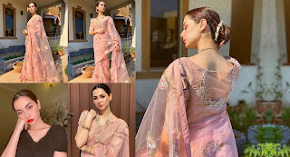 Hania Amir Looking awesome in New Pink Dress
