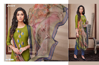 Jay Vijay Toral Pashmina Collection With Bember Chiffon Duppta