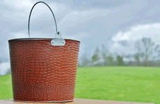 Brown faux leather bucket from Bucket Outlet