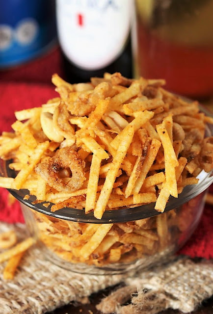 dinner Taco Potato Sticks Snack Mix with French Fried Onions Image