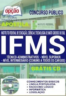 Apostila concurso IFMS Mato Grosso do Sul Técnico Administrativo 2016.