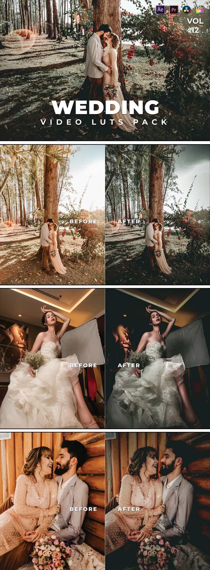 Wedding Pack Video LUTs Vol.12
