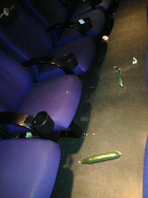 These Cucumbers Were Found in A Cinema Showing Fifty Shades Darker