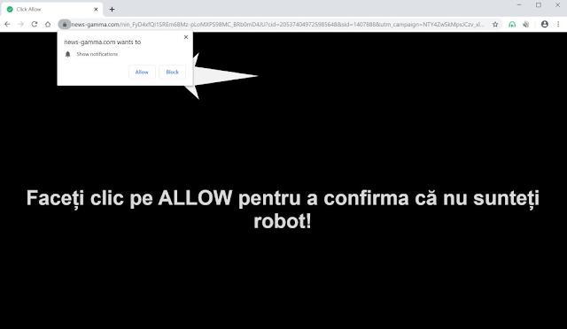 News-gamma.com pop-ups