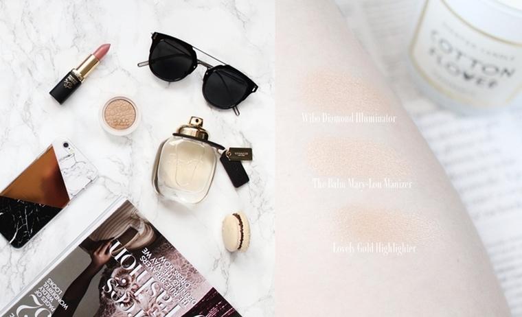 4 najlepsze rozświetlacze do twarzy w mojej kosmetyczce swatche opinie blog
