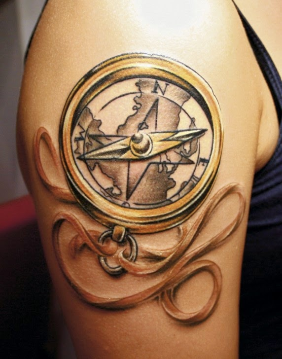 Tattoo Ideas Compass Tattoo Design