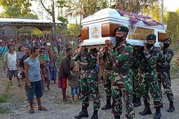 Yonif RK 744 Ikut Andil Dalam Pemakaman Veteran dari Dafala, Rafael Seren