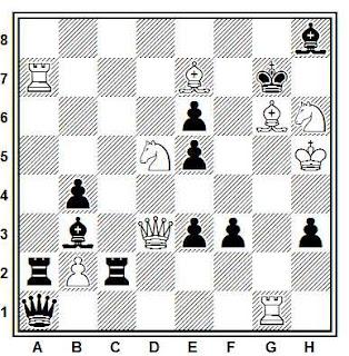 Problema ejercicio de ajedrez número 832: Mate en 2 de Valentín Marín (Sydney Morning Herald, 1898)
