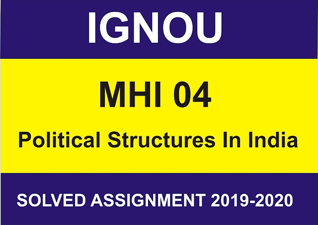 MHI 04 Solved assignment 2020-21