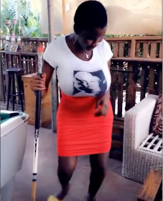 """Pamela Odame Shakes Her Bossom, Dances Zanku To Mavins Song """"All Is In Order"""""""