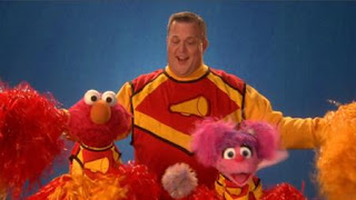 Billy Gardell talks about Cheer with Elmo and Abby. the Word on the Street is Cheer. Sesame Street Episode 4420, Three Cheers for Us, Season 44