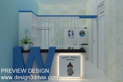 Design ruang laundry room minimalis unik menarik