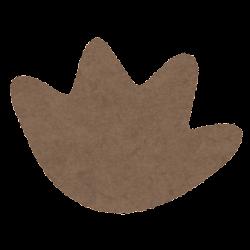 カピバラの足跡のイラスト(前足)