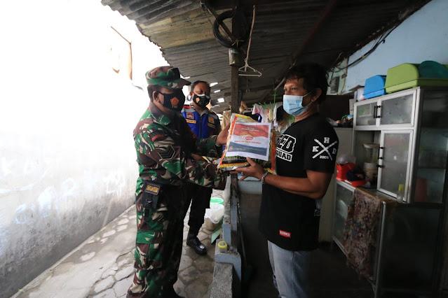 bantuan sembako TNI Polri untuk covid