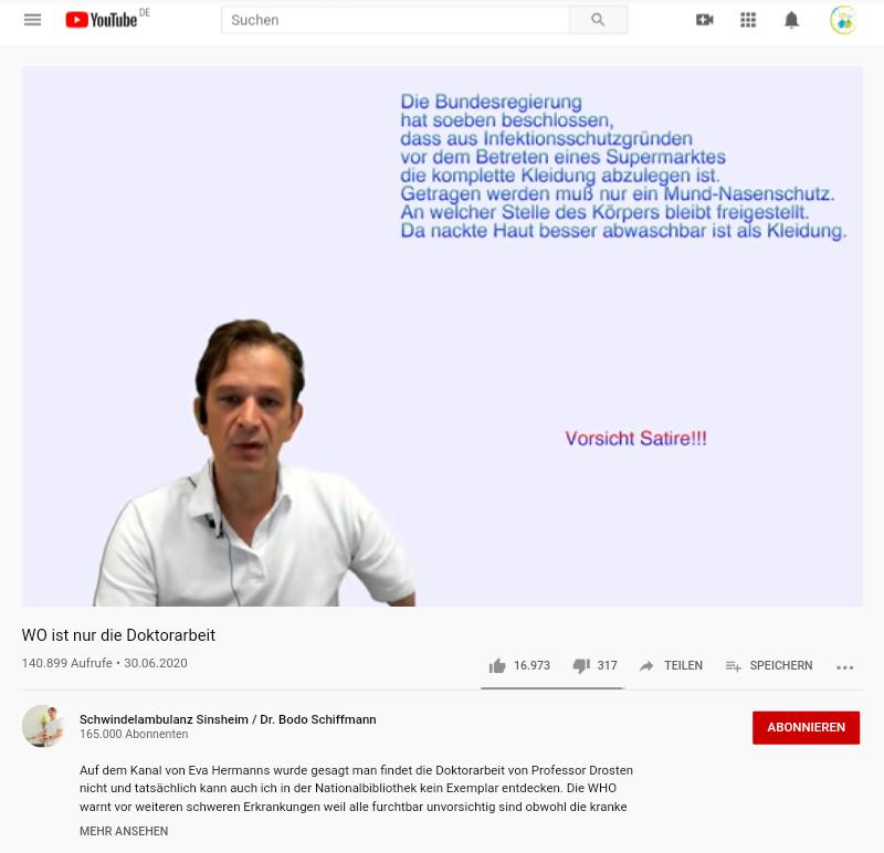 Christian Drosten Doktorarbeit