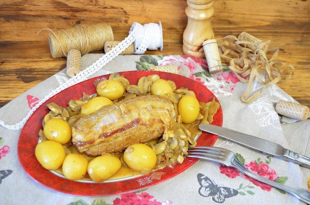receta de carne, receta de champiñones, rollo de lomo, rollo de lomo de cerdo, rollo de lomo de cerdo relleno con champiñones, rollo de lomo de res relleno, rolo de lomo de cerdo relleno, las delicias de mayte,