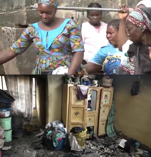 Sad! Mother and her 4 children die in fire caused by candlelight in Kwara state (Video)