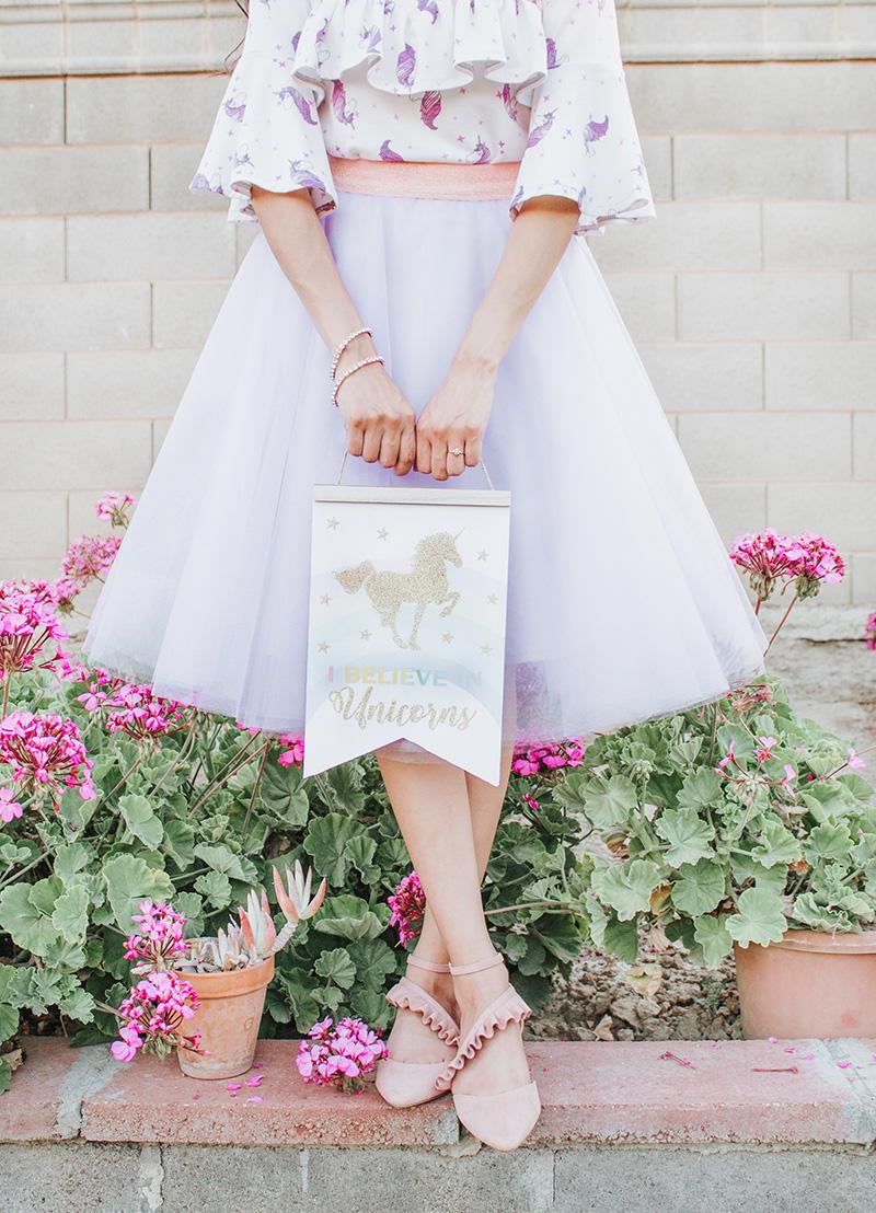 lavender pastel tulle skirt